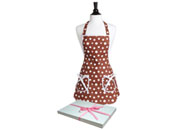 Фартук Женский Brown & White Retro Polka Dot